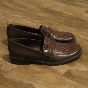 Naturalizer Brown Loafers Slip on Sz 11 M  EUC